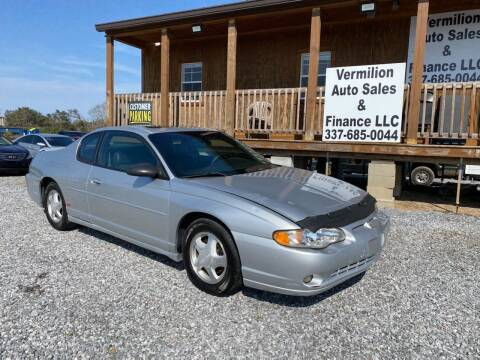 2004 Chevrolet Monte Carlo for sale at Vermilion Auto Sales & Finance in Erath LA