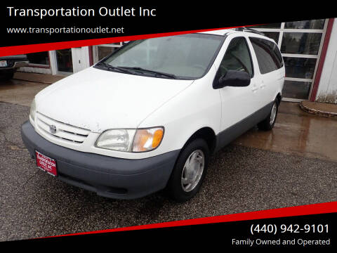 2002 Toyota Sienna for sale at Transportation Outlet Inc in Eastlake OH