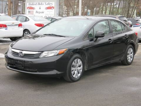 2012 Honda Civic for sale at United Auto Service in Leominster MA