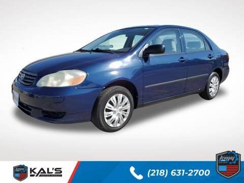 2003 Toyota Corolla for sale at Kal's Kars - CARS in Wadena MN