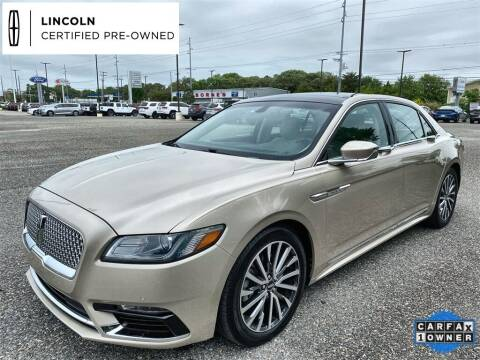 2017 Lincoln Continental for sale at Kindle Auto Plaza in Middle Township NJ