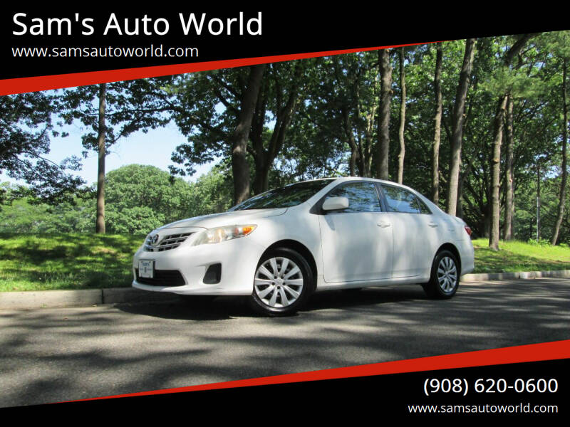 2013 Toyota Corolla for sale at Sam's Auto World in Roselle NJ