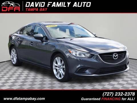 2016 Mazda MAZDA6 for sale at David Family Auto in New Port Richey FL