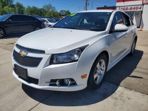 2013 Chevrolet Cruze for sale at Quallys Auto Sales in Olathe KS