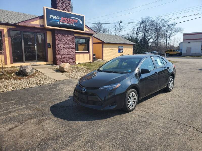 2018 Toyota Corolla for sale at Pro Motors in Fairfield OH