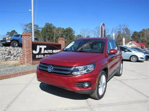2014 Volkswagen Tiguan for sale at J T Auto Group in Sanford NC