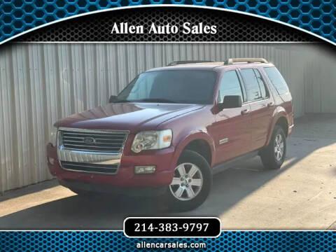 2008 Ford Explorer for sale at Allen Auto Sales in Dallas TX