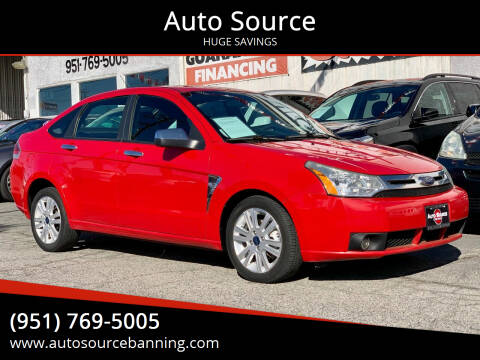 2008 Ford Focus for sale at Auto Source in Banning CA
