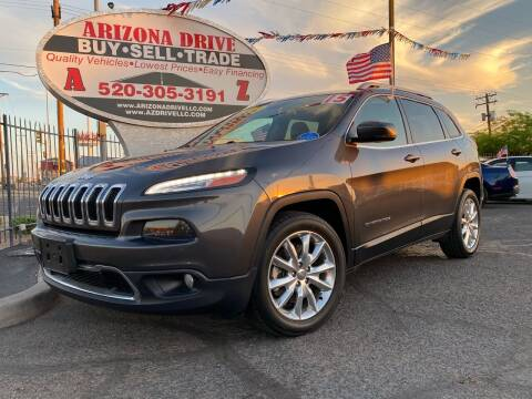 2015 Jeep Cherokee for sale at Arizona Drive LLC in Tucson AZ