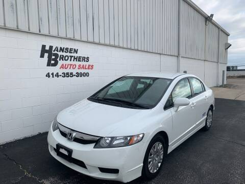 2011 Honda Civic for sale at HANSEN BROTHERS AUTO SALES in Milwaukee WI