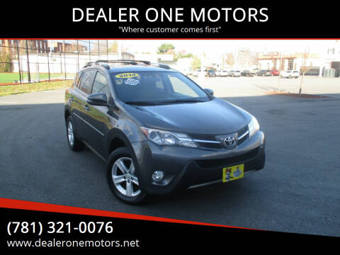 2014 Toyota RAV4 for sale at DEALER ONE MOTORS in Malden MA