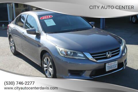2014 Honda Accord for sale at City Auto Center in Davis CA