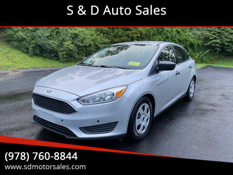 2016 Ford Focus for sale at S & D Auto Sales in Maynard MA