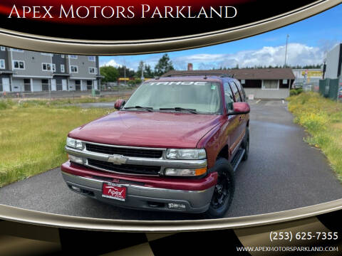 2004 Chevrolet Tahoe for sale at Apex Motors Parkland in Tacoma WA