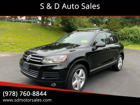 2013 Volkswagen Touareg for sale at S & D Auto Sales in Maynard MA
