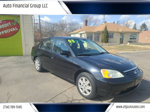 2003 Honda Civic for sale at Auto Financial Group LLC in Flat Rock MI