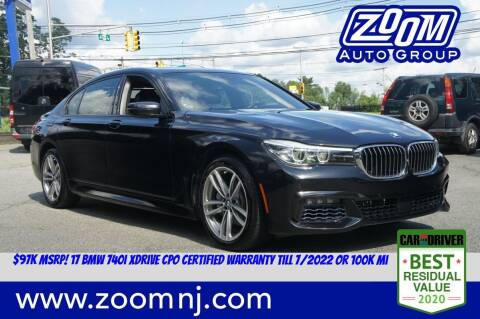 2017 BMW 7 Series for sale at Zoom Auto Group in Parsippany NJ