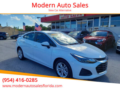 2019 Chevrolet Cruze for sale at Modern Auto Sales in Hollywood FL