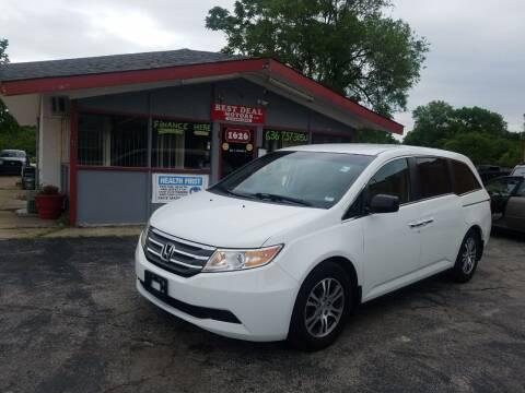 2012 Honda Odyssey for sale at Best Deal Motors in Saint Charles MO