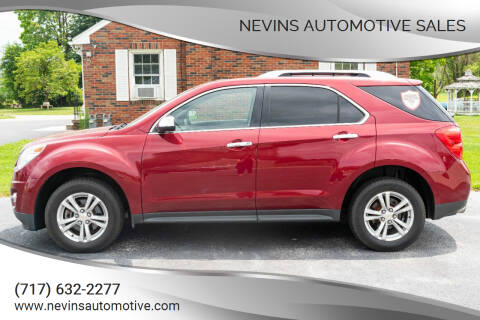 2012 Chevrolet Equinox for sale at Nevins Automotive Sales in Hanover PA
