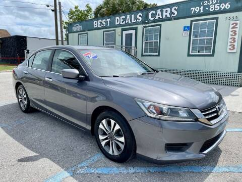 2013 Honda Accord for sale at Best Deals Cars Inc in Fort Myers FL