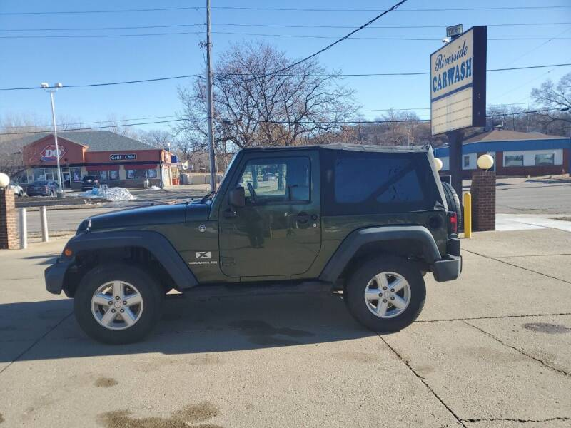 2007 Jeep Wrangler for sale at RIVERSIDE AUTO SALES in Sioux City IA