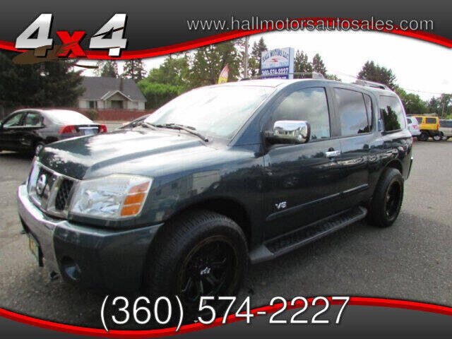 2006 Nissan Armada for sale at Hall Motors LLC in Vancouver WA