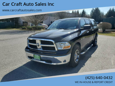 2010 Dodge Ram Pickup 1500 for sale at Car Craft Auto Sales Inc in Lynnwood WA