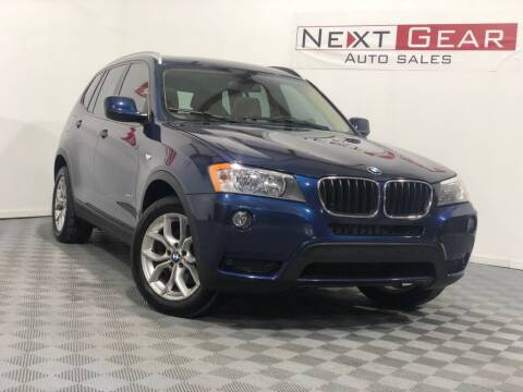 2013 BMW X3 for sale at Next Gear Auto Sales in Westfield IN