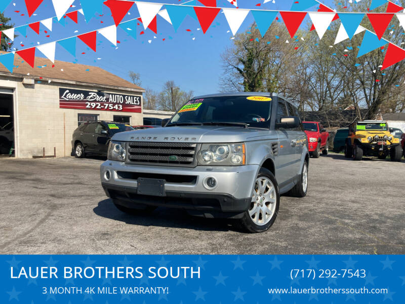 2007 Land Rover Range Rover Sport for sale at LAUER BROTHERS SOUTH in York PA