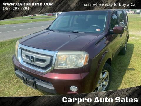 2009 Honda Pilot for sale at Carpro Auto Sales in Chesapeake VA