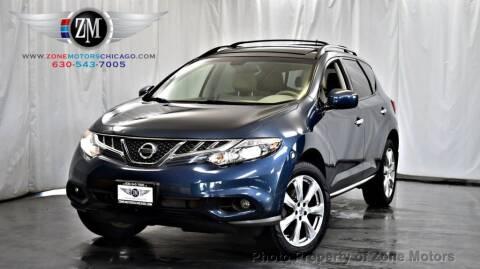 2014 Nissan Murano for sale at ZONE MOTORS in Addison IL