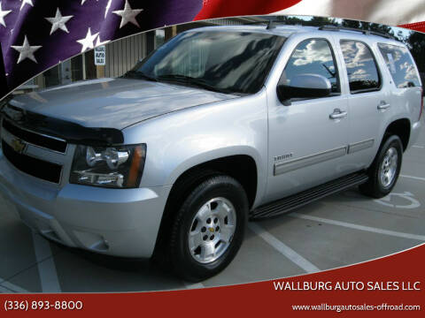 2013 Chevrolet Tahoe for sale at WALLBURG AUTO SALES LLC in Winston Salem NC