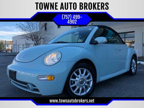 2004 Volkswagen New Beetle for sale at TOWNE AUTO BROKERS in Virginia Beach VA
