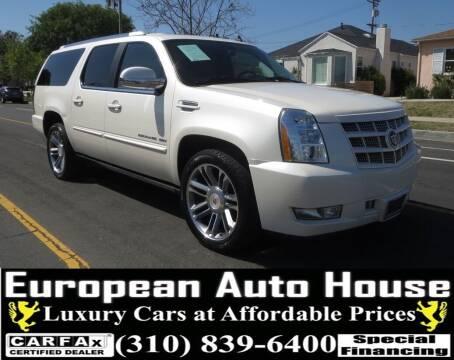 2013 Cadillac Escalade ESV for sale at European Auto House in Los Angeles CA