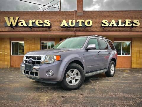 2008 Ford Escape Hybrid for sale at Wares Auto Sales INC in Traverse City MI