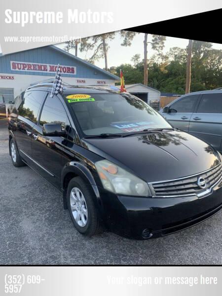2008 Nissan Quest for sale at Supreme Motors in Tavares FL