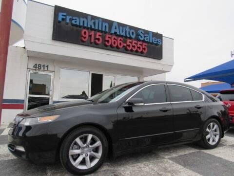 2012 Acura TL for sale at Franklin Auto Sales in El Paso TX