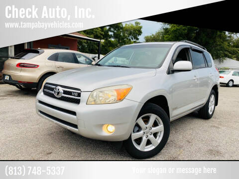 2008 Toyota RAV4 for sale at CHECK  AUTO INC. in Tampa FL