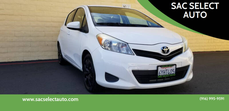 2013 Toyota Yaris for sale at SAC SELECT AUTO in Sacramento CA
