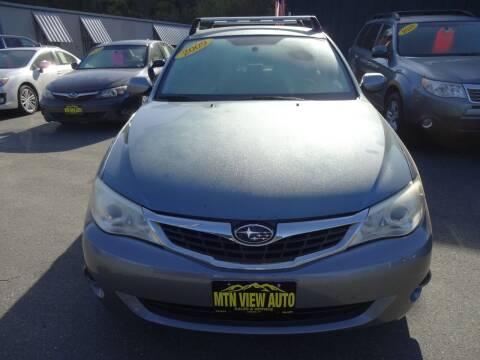 2009 Subaru Impreza for sale at MOUNTAIN VIEW AUTO in Lyndonville VT