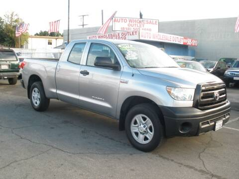 2012 Toyota Tundra for sale at AUTO WHOLESALE OUTLET in North Hollywood CA