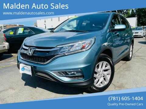 2015 Honda CR-V for sale at Malden Auto Sales in Malden MA