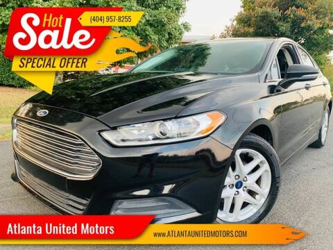2015 Ford Fusion for sale at Atlanta United Motors in Buford GA