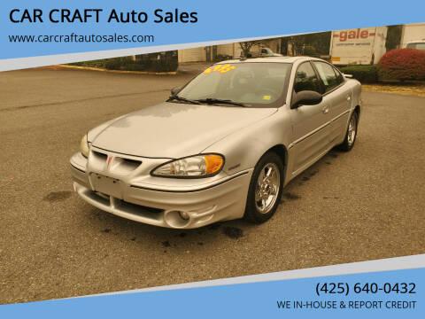 2004 Pontiac Grand Am for sale at Car Craft Auto Sales Inc in Lynnwood WA