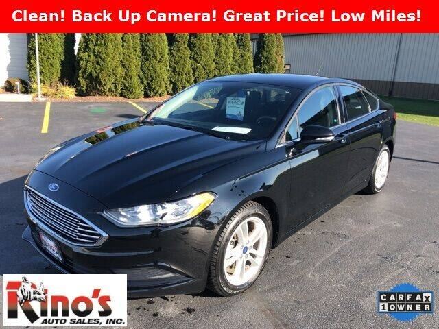 2018 Ford Fusion for sale at Rino's Auto Sales in Celina OH
