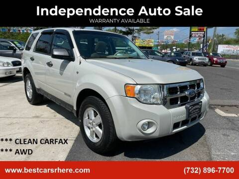 2008 Ford Escape for sale at Independence Auto Sale in Bordentown NJ