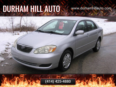 2008 Toyota Corolla for sale at Durham Hill Auto in Muskego WI