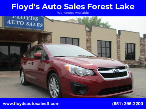 2014 Subaru Impreza for sale at Floyd's Auto Sales Forest Lake in Forest Lake MN