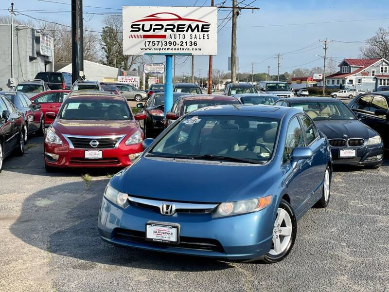 2008 Honda Civic for sale at Supreme Auto Sales in Chesapeake VA